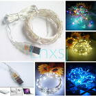 30 LED USB Battery Silver Wire Fairy String Light Christmas Tree Lights Outdoor