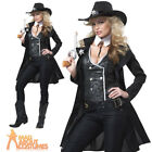 Adult Roundem Up Cowgirl Costume Ladies Sheriff Wild West Fancy Dress Outfit