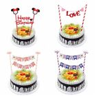 Cupcake Topper Bunting Banner Party Baby Shower Wedding Cake Decorations Flags