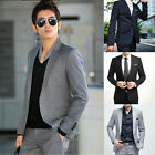 Mens Blazer Business Wedding Slim Clothing Suit and Pants Fit One&Two Buttons