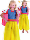 Childs Snow Princess Costume Girls Fairy Tale Fancy Dress Kids Book Week Outfit