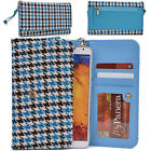 Houndstooth Mobile Cell Smart Phone Wristlet Case Cover XLMT