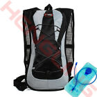 2L Cycling Backpack Water Bag Climbing Hydration Pack Hiking Pouch With Bladder