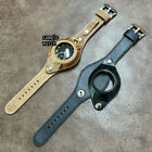 Vintage Style Oily Brown Leather Pocket Watch Wrist Strap/Band with Cover #300