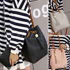 Fashion Women's Shoulder Bag Messenger Tassel Satchel Bucket Bag Clutch 2PCS Set