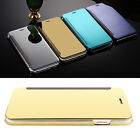 Luxury Plating Smart Mirror View Flip Hard Clear Case Cover For iPhone 6 7 Plus