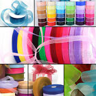 50m Woven Sheer Edge Organza Ribbon Reels All Widths & Colours Quality Crafts