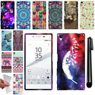 For Sony Xperia Z5 5.2 inch Art Design TPU SILICONE Rubber Case Cover + Pen