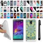 For Samsung Galaxy Note 4 N910 TPU SILICONE Soft Protective Case Cover + Pen