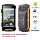 """Unlocked Waterproof Cell Phone 4GB 4.5"""" 3G GSM Smartphone Android Quad Core GPS"""