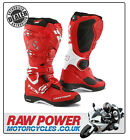 TCX Comp Evo Motorcycle Michelin Motorbike Boots - Red/White