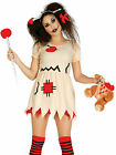 Ladies Voodoo Doll Costume Adults Halloween Zombie Fancy Dress Womens Outfit