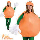 Adult Orange Costume Unisex Food and Drink Funny Novelty Fancy Dress Outfit New