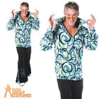 Adult Mens Swinger Costume 1960s Hippie Hippy Psychedelic Fancy Dress Outfit New