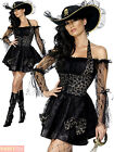 Ladies Fever Swashbuckler Costume Adult Pirate Captain Fancy Dress Womens Outfit