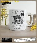 Border Collie Dog Mug ~ Perfect Gift can be personalised ~ Vintage style