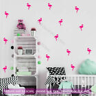 100 X7cm Flamingo Removable Vinyl Wall Decals Kitchen Bedroom Bath Tile Stickers