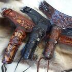 Tooled Leather Western Double Gun Belt for Re-enactment, Stage and Costume