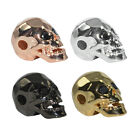 Skull Night Warrior Face Bead Bracelet Charm Connector Cooper Gold Filled 3pcs