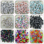 Wholesale!100/500/1000pcs Mixed Alphabet/letter Acrylic Cube Beads 6x6mm Choose