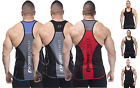 MENS BODYBUILDING GYM STRINGER VEST Y BACK RACERBACK Y BACK POLYESTER TANK TOP