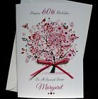 Personalised Handmade A5 Birthday Card -  Mother's Day 40th 50th 60th 65th  1568