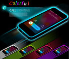 LED Blink Light UP Remind Incoming Call TPU+PC Cover F Iphone 5 6/Plus Case Skin