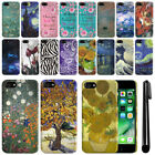 For Apple iPhone 7 4.7 inch PATTERN HARD Protector Back Case Phone Cover + Pen