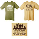 Mens Military Behind Our Troops 100% Cotton T-shirt Tshirt