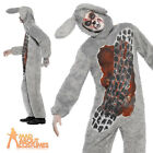 Adult Roadkill Rabbit Zombie Costume Mens Halloween Fancy Dress Outfit New