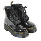 Dr Martens Women's Molly Lolita Patent Leather Ribbon Lace Up Boot Black