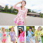 Rose Printed Summer Beach Shirt Sun Summer UV Protection Clothing Dresses Tops