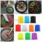 bicycle wheel spoke covers - 72pcs Wheel Spoke Wrap Skin Coat Trim Cover Pipe Motorcycle Motocross Dirt Bike