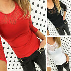 New Fashion Womens Long Sleeve Round Neck Basic Ladies Casual Wear T-Shirt Top