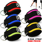 Ankle D Straps Weight Lifting Gym Cable Attachment Cuff Pulley Neoprene 1X One