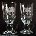 Family Coat of Arms - Irish Coffee Glasses - Heraldic Crest -Wedding/Anniversary