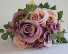 Artificial Silk Rose Flower Bouquet (NO.1) - 8 Colours Wedding Centrepiece Decor