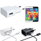 2A EU USB Wall AC Adapter + Micro USB Charger Cable For Samsung Galaxy CO