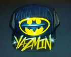 Airbrush Trucker Hat Batman Symbol, Batman Hat, Batman, Airbrush Hat, Airbrush