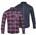 Mens Fashion Lumberjack Cotton Check Shirt Work Shirt Long Sleeve