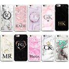 MARBLE GRANITE INITIALS NAME PERSONALISED CUSTOM CASE COVER FOR IPHONE