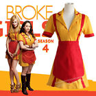 2 Broke Girls Waitress Womens Dress Cosplay Costume Outfits +Track Number