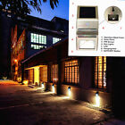 PIR Human Motion Sensor Stainless Steel Wall  LED Light Outdoor Solar Powered