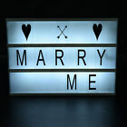 Free Combination Cinematic Light Box With Letters and LED Light Luminous Box AU