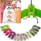 10pcs Home Creative New Mini Flocking Clothes Hanger Hook Closet Organizer