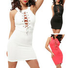 STO Women Sexy Cross Bandage Straps Bodycon Cocktail Evening Club Party Dress