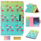 Slim Leather Colorful Patterns Folio Stand Smart Magnetic Protective Case Cover