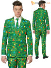 Mens Christmas Suitmeister Suit Xmas Party Festive Funny Fancy Dress Light Up