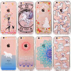 unicorn with cat - Unicorn Cat Soft Bumper Clear Acrylic Hard Back Case Cover For iPhone 8 6 7 Plus