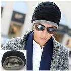 Chic Men's Boys Plicate Baggy Beanie Hat Winter Warmer Crochet Knit Skull Cap LA